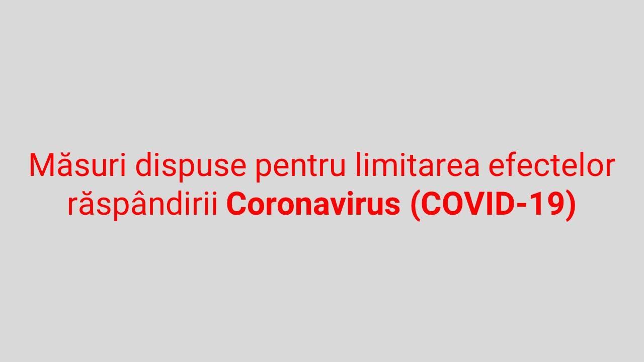 Masurile adoptate de CLSU Vulcana-Pandele in legatura cu criza generata de epidemia de Coronavirus